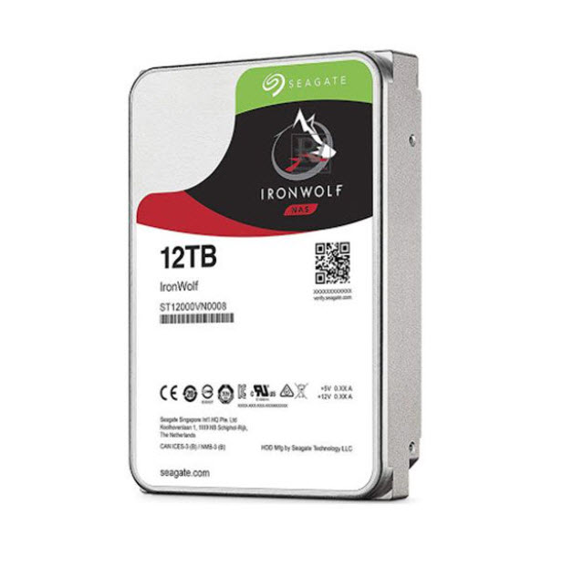 Ổ cứng cho nas Seagate Ironwolf 12TB  (ST12000VN0008)